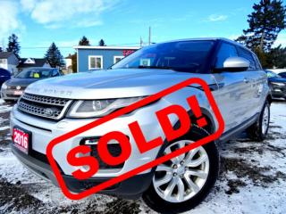 Used 2016 Land Rover Evoque SE Navi Panoramic Roof Camera Certified for sale in Guelph, ON