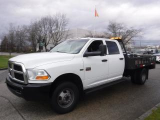 Used 2011 Dodge Ram 3500 Crew Cab Dually  4WD 9.5 foot Flat deck for sale in Burnaby, BC