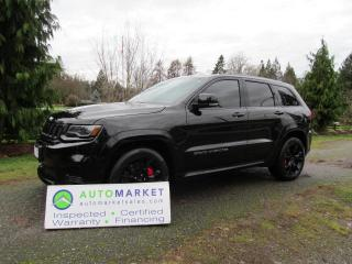 Used 2017 Jeep Grand Cherokee SRT-8, LOADED, FREE BCAA MBSHP, FINANCING! for sale in Surrey, BC