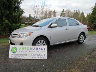 Used 2013 Toyota Corolla LE, BLUETOOTH, INSP, FREE BCAA MBSHP, FREE WARR, FINANCE! for sale in Surrey, BC