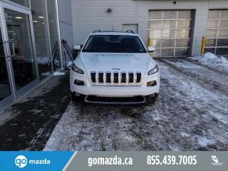 Used 2017 Jeep Cherokee LIMITED V6 AWD LEATHER PANO ROOF NAV GREAT SHAPE for sale in Edmonton, AB