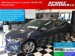 Used 2017 Hyundai Elantra GLS+Camera+Sunroof+Blind Spot+HTD Seats+Apple Play for sale in London, ON