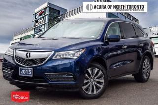 Used 2015 Acura MDX Navigation at Acura Certified! No Accident|Blind S for sale in Thornhill, ON