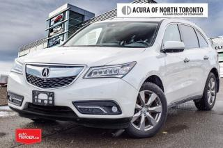 Used 2016 Acura MDX Elite No Accident| DVD| 360 Camera for sale in Thornhill, ON
