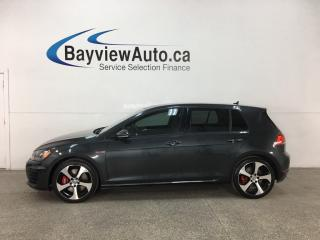 Used 2015 Volkswagen Golf GTI 5-Door Performance - 6SPD! SUNROOF! PUSH START! HTD LTHR! NAV! REVERSE CAM! for sale in Belleville, ON