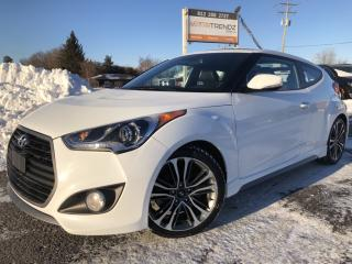 Used 2017 Hyundai Veloster Turbo NAV with Heated Steering, Sunroof, Heated Leather, BackupCam and More! for sale in Kemptville, ON