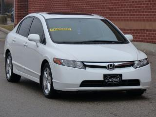 Used 2008 Honda Civic EX-L,LEATHER,HEATED SEATS,SUNROOF,ALLOYS,CERTIFIED for sale in Mississauga, ON