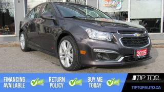 Used 2015 Chevrolet Cruze 2LT ** Leather, Sunroof, Remote Start ** for sale in Bowmanville, ON