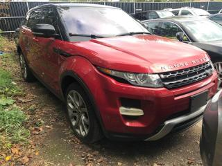 Used 2013 Land Rover Range Rover Evoque Dynamic, NAVI, PANO, MERIDIAN, PUSH BTN GO, BT Range Rover Evoque for sale in Toronto, ON