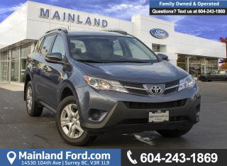 Used 2014 Toyota RAV4 ***LOW KMS, ACCIDENT FREE, EX LEASE*** for sale in Surrey, BC
