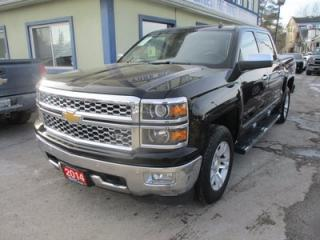 Used 2014 Chevrolet Silverado 1500 LOADED LTZ MODEL 5 PASSENGER 5.3L - V8.. 4X4.. CREW.. SHORTY.. LEATHER.. HEATED/AC SEATS.. NAVIGATION.. BACK-UP CAMERA.. BOSE AUDIO.. for sale in Bradford, ON