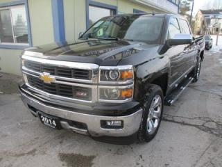 Used 2014 Chevrolet Silverado 1500 LOADED LTZ - Z71 MODEL 5 PASSENGER 5.3L - V8.. 4X4.. CREW.. SHORTY.. LEATHER.. HEATED/AC SEATS.. NAVIGATION.. BACK-UP CAMERA.. BOSE AUDIO.. for sale in Bradford, ON