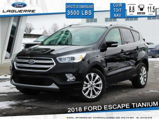 Used 2018 Ford Escape Titanium Cuir Toit for sale in Victoriaville, QC