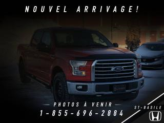 Used 2016 Ford F-150 XLT CREW CAB + CAMERA + 6 PLACES + WOW ! for sale in St-Basile-le-Grand, QC