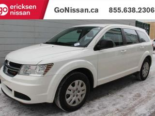 Used 2017 Dodge Journey Canada Value Pkg: SUPER LOW KMS, PUSH BUTTON START, POWER WINDOWS AND LOCKS, 7 PASSENGER for sale in Edmonton, AB