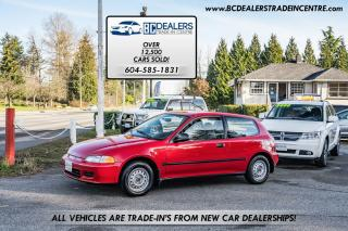 Used 1993 Honda Civic DX, ONLY 43,000km's, Local Car, Amazing Condition! for sale in Surrey, BC