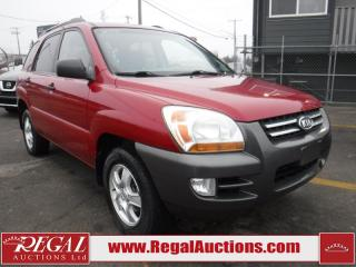 Used 2008 Kia Sportage LX 4D Utility 2WD for sale in Calgary, AB