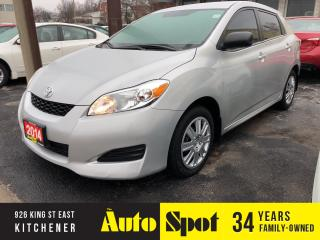 Used 2014 Toyota Matrix PRICED - QUICK SALE !/ for sale in Kitchener, ON