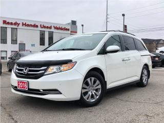 Used 2016 Honda Odyssey EX-L w/RES -  Leather - DVD - NEW TIRES for sale in Mississauga, ON