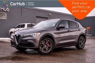 Used 2018 Alfa Romeo Stelvio Sport|AWD|Navi|Pano Sunroof|Blind Spot|Backup Cam|Bluetooth|R-Start|Leather|19