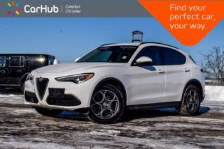 Used 2018 Alfa Romeo Stelvio Sport|AWD|Navi|Blind Spot|Backup Cam|Bluetooth|R-Start|Leather|Heated Front Seats|19