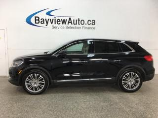 Used 2017 Lincoln MKX Reserve - HTD/COOLED LTHR! SYNC! NAV! REVERSE CAM! KEYPAD! PANOROOF! for sale in Belleville, ON