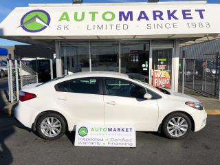 Used 2016 Kia Forte LX PLUS, BLUETOOTH, YOU WORK/YOU DRIVE for sale in Langley, BC