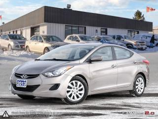 Used 2013 Hyundai Elantra GL,ECO,V.TOOTH,USB,HEATED SEATS for sale in Barrie, ON