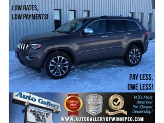 Used 2018 Jeep Grand Cherokee Limited *AWD/Htd Lthr/Pano Roof/Navi/V6 for sale in Winnipeg, MB