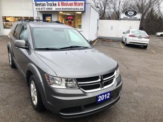 Used 2012 Dodge Journey Canada Value Pkg for sale in Beeton, ON