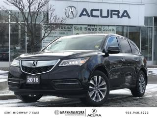 Used 2016 Acura MDX Navi SH-AWD, Backup Cam, BSM, Pwr Trunk for sale in Markham, ON