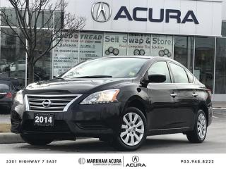 Used 2014 Nissan Sentra 1.8 S CVT Bluetooth, Cruise Ctrl, A/C, Pwr Doors for sale in Markham, ON