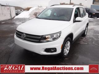 Used 2015 Volkswagen Tiguan Trendline 4D Utility 4MOTION AWD for sale in Calgary, AB