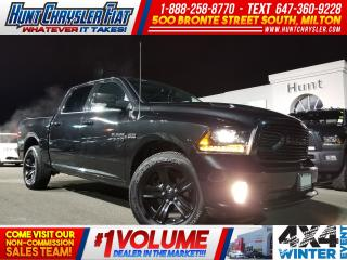 Used 2018 RAM 1500 SPORT/CREW/BLACKOUT/SUN/TONNEAU & MORE!! for sale in Milton, ON