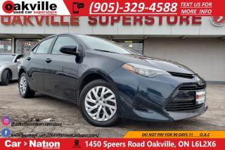 Used 2017 Toyota Corolla LE | B/U CAM | BLUETOOTH | HEATED SEATS for sale in Oakville, ON