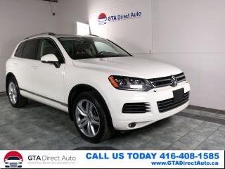 Used 2012 Volkswagen Touareg EXECLINE TDI AWD Nav PanoRoof Heated Xen Certified for sale in Toronto, ON