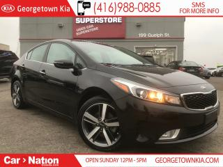 Used 2017 Kia Forte EX LUXURY LEATHER| SUNROOF| B\U CAM| CLEAN CARFAX for sale in Georgetown, ON