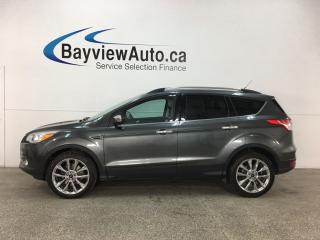 Used 2016 Ford Escape - SYNC! REVERSE CAM! HTD LTHR! KEYPAD! PWR LIFTGATE! for sale in Belleville, ON