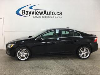 Used 2016 Volvo S60 T5 Special Edition Premier - AWD! HTD FRONT & REAR LTHR! NAV! REVERSE CAM! PUSH START! BSA! BLUETOOTH! for sale in Belleville, ON