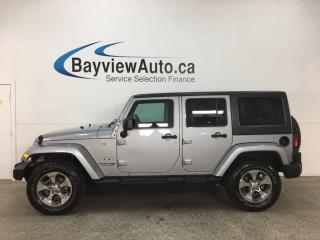 Used 2018 Jeep Wrangler JK Unlimited Sahara - NAV! REMOVABLE HARD TOP! A/C! CRUISE! PWR GROUP! for sale in Belleville, ON