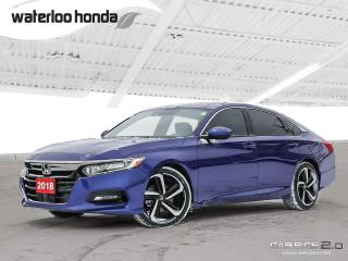Used 2018 Honda Accord Sport 2.0T Bluetooth, Back Up Camera, Heated Seats and more! for sale in Waterloo, ON