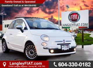 Used 2016 Fiat 500 Lounge LOW KMS! NO ACCIDENTS, B.C. OWNED! for sale in Surrey, BC