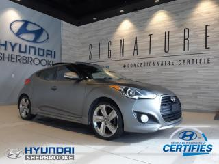 Used 2014 Hyundai Veloster TURBO+CUIR+NAVI GPS+TOIT PANO+CAM RECUL for sale in Sherbrooke, QC