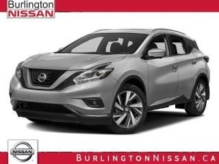 Used 2015 Nissan Murano Platinum, ACCIDENT FREE ! 1 OWNER ! for sale in Burlington, ON