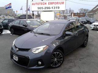 Used 2015 Toyota Corolla S Sunroof/Leather/Camera/Htd Seats&GPS for sale in Mississauga, ON
