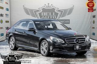 Used 2014 Mercedes-Benz E-Class AWD, LANE ASSIST, PANO, BLIND SPOT, NAVI, BACK-UP CAM, LEATHER for sale in Toronto, ON