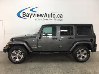 Used 2018 Jeep Wrangler JK Unlimited Sahara - NAV! A/C! CRUISE! REMOTE START! ALLOYS! for sale in Belleville, ON