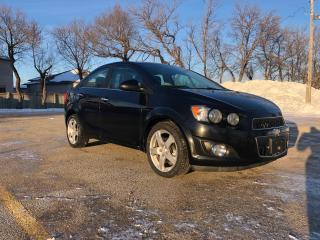 Used 2014 Chevrolet Sonic LT Auto Heated Seats, Remote Start, Sunroof, Alloy wheels for sale in Winnipeg, MB