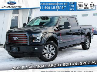Used 2016 Ford F-150 Lariat Sport édition for sale in Victoriaville, QC