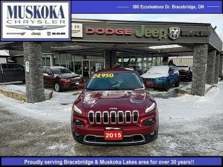 Used 2015 Jeep Cherokee Limited for sale in Bracebridge, ON